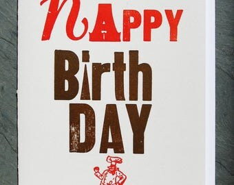 Happy Birthday Chef Letterpress Greeting Card