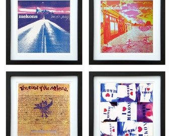 The Mekons - Framed Album Art - Set of 4 Images