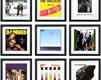 UK Punk - Framed Album Art - Collector Series