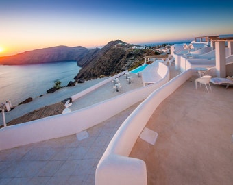 Santorini Photography, Oia sunset, Santorini Wall Art
