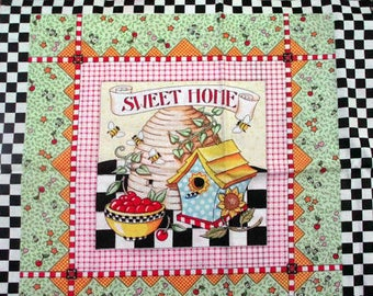 Mary Engelbreit, Fabric Panel, At Home With, Sweet Home, Tea Party, Sunny Days, Day Dreams, Checkerboard, VIP 2000, cotton fabric
