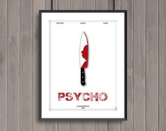PSYCHO, minimalist movie poster