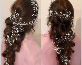 Long Bridal Hair Piece, headpiece
