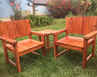 Old Growth Reclaimed Redwood Chair