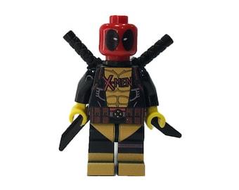 LEGO Custom minifigures -  Xmen Deadpool Made with Original LEGO Parts