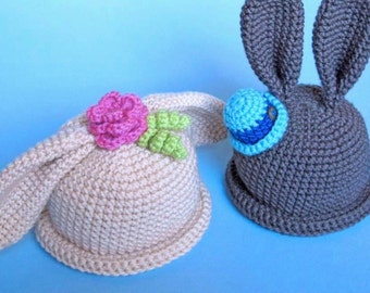 Easter Bunny Crochet Beanie (Baby and Toddler)
