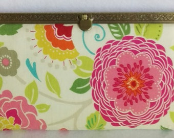 8-inch slim wallet, clutch purse