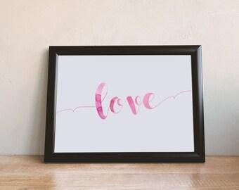 Love Print A4