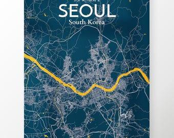 Seoul City Map Poster / Color Amuse / Map Art for Seoul / Original Artwork