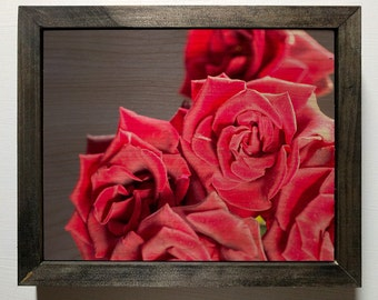 Red Roses Wooden Sign