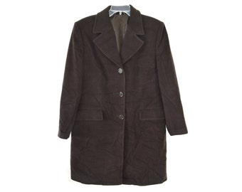 Vintage women coat wool and cashmere brown