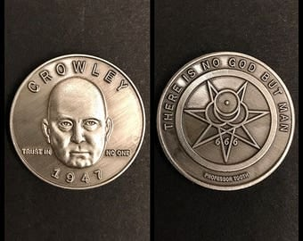 Occultist Aleister Crowley Novelty Coin - Occultist