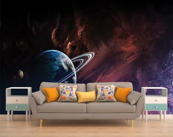 Stars Mural, Deep Space, Galaxy, Space Wallpaper, Outer Space Wall Mural,  Universe, Planet, Planets, Solar System, Space, Peel and Stick