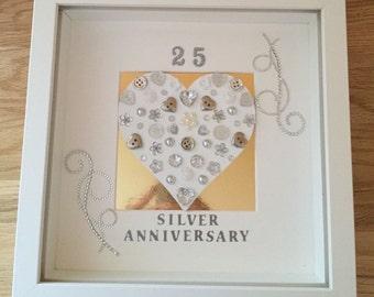 Silver Wedding Annoversary Frames