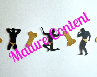 Bachelorette Party Garland, Male Stripper Garland, Bachelorette Party Supplies, Bachelorette Party Decoration