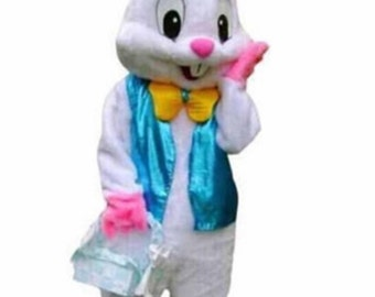 Easter Bunny rabbit adult mascot costume plus