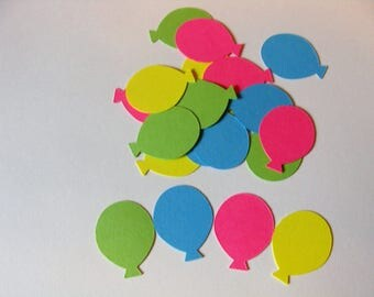 Happy Birthday Balloon Confetti- Pink, Blue Green and Yellow Balloon Confetti,1st Birthday Confetti,Retirement Confetti,Birthday Table Decor
