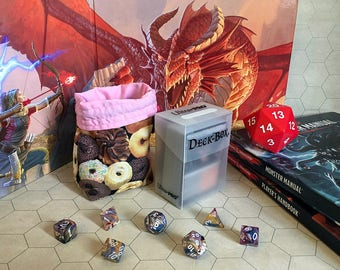 Donuts - Small Gaming Bag - trading card game, roleplaying games, dungeons and dragons, magic the gathering, pokemon, dice deck box tcg