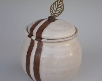 Stripe Resist Lidded Jar