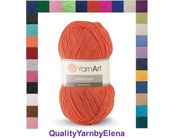 YARN ART Cotton soft- cotton yatn 55%-acrylic yarn 45- 100g 600m turkish yarn
