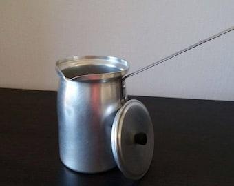 Vintage aluminium milk jug ,pitcher, rustic kitchen,vintage aluminium cup,aluminium mug,soviet drinkware