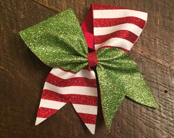 Elf Cheer Bow, Christmas Cheer bow