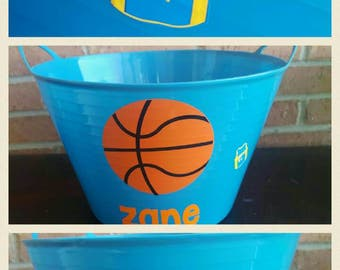 Storage basket*basketball* personalized