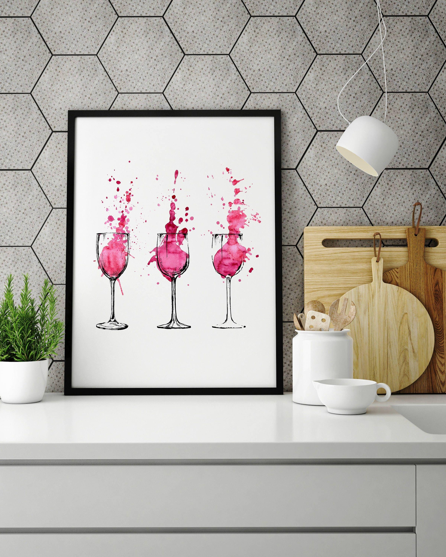 Red Wine Wall Art, Wine Artwork, Wine Glass Art, Wine Glass Artwork, Glass Wall  Art, Wine Art, Red Wine Art, Wine Splash Art, Wine Pour Art Part 94