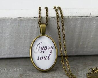 "Necklace ""Gypsy soul"" / / boho styling, hippie, Bohemian minimalist,."