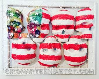 Gay America, Stars and Stripes, America sculpture, hiv America, Rainbow painting, Gay Painting, gay art, gay usa, gay sculpture, gay