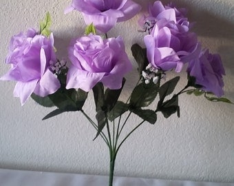 Lavender Silk Open Rose Flower Bush