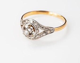 18K French tourbillon ring