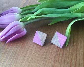 Purple Diamond Studs