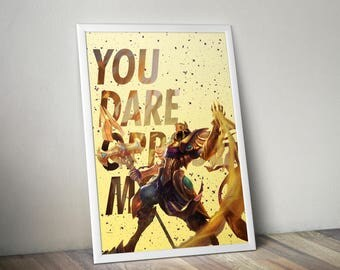 Azir Posters, League of Legends, LoL Poster, League of Legends Art, League Gifts