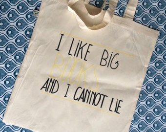 I Like big BOOKS and I cannot lie! Totebag markttas