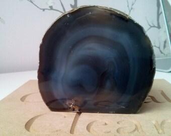 Natural Brown Agate Tea-Light Holder Candle