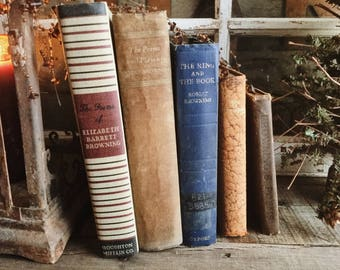 Old Books - Mr. & Mrs. Browning FREE SHIPPING