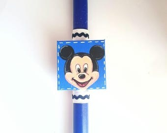 Frozen inspired easter candle lambada for girl with mickey inspired easter candle lambada for boy easter gift for godson greek orthodox negle