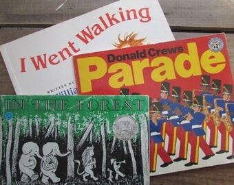 Children's Books Set Parade I Went Walking In The Forest Picture Book Bundle