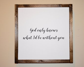 Wood Sign - Wood Signs - God - Quote - Typography Art - Handpainted - Wall Hangings - Wall Decor - Home Decor - Wall Art