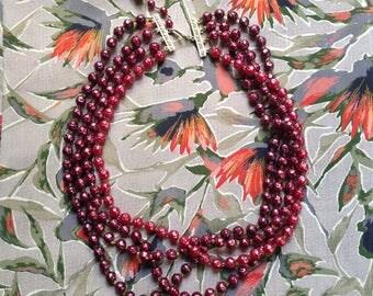 Vintage faux-pearl necklace c1960s