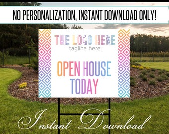 """Approved Colors and Fonts """"Open House"""" Yard Sign 24 x 18 ***Instant Download ~DIGITAL FILE ONLY***"""