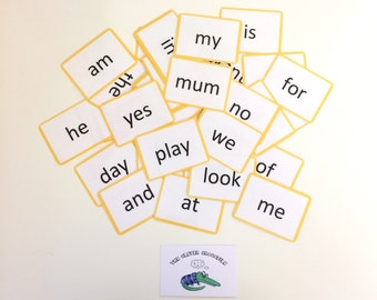 Reception high frequency flash cards, Nursery, Early years, Learning cards, EYFS, Phonics, Teaching resource, KS1, Literacy