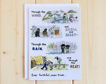 Missionary Greeting Card - Mission Weather