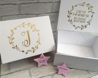 Will you be my bridesmaid personalised gift box