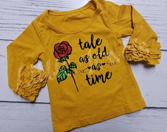 SALE!** Tale as Old as Time Princess Belle - Beauty - Icing Cupcake Top Shirt