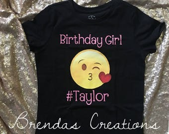 Emoji Birthday Shirt , Emoji birthday outfit, emoji tutu, emoji shirt , emoji customized shirt, Emoji Customized Shirt, Emoji Birthday Tutu