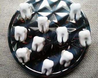 Teeth Magnets-fridge Magnets,kitchen decor,dentist,gift, neodymium, unique,weird,FREE SHIPPING