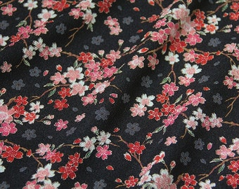 100% Polyester Japanese Kimono inspired Sakura Print Fabric
