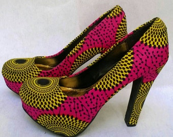 African clothing accessories, Ankara shoes and purse, African handmade clutch and shoes, wedding accessories, African wedding clothes.